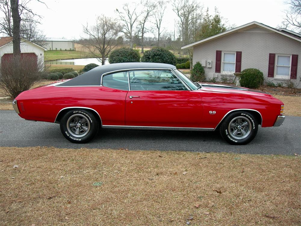 1972 CHEVROLET CHEVELLE SS 454 2 DOOR COUPE RE-CREATION - Side Profile - 88846