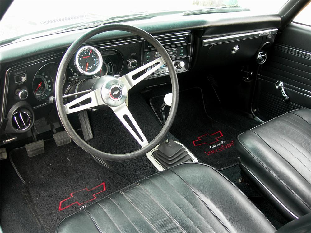 1969 CHEVROLET CHEVELLE CUSTOM 2 DOOR COUPE - Interior - 88849