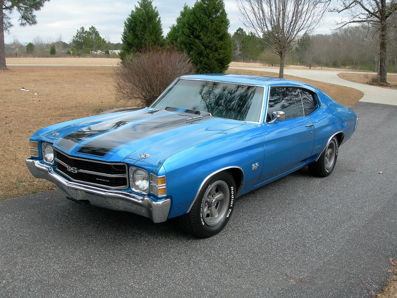 1971 CHEVROLET CHEVELLE SS 2 DOOR COUPE - Front 3/4 - 88850