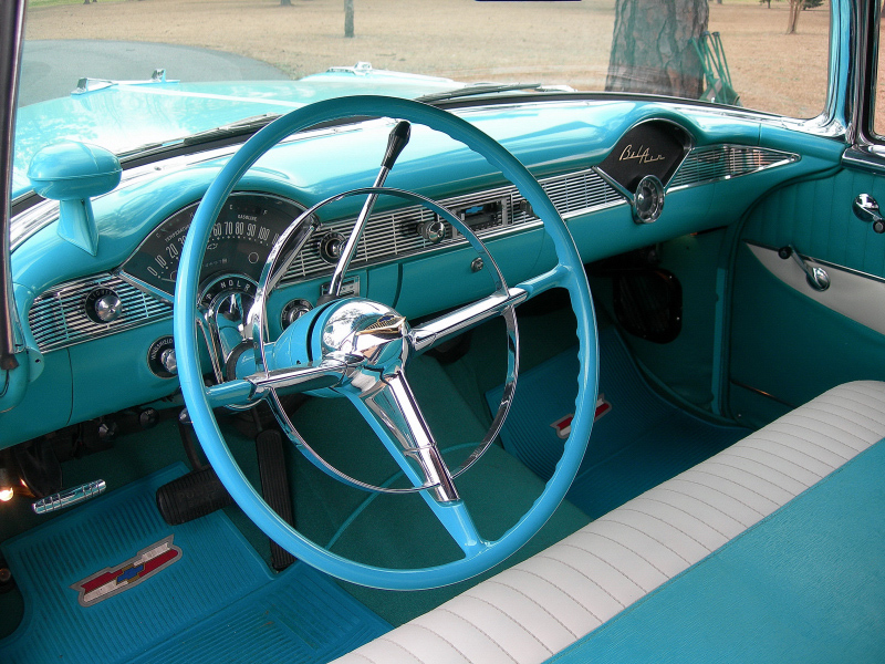 1956 CHEVROLET BEL AIR 2 DOOR CONVERTIBLE - Interior - 88853