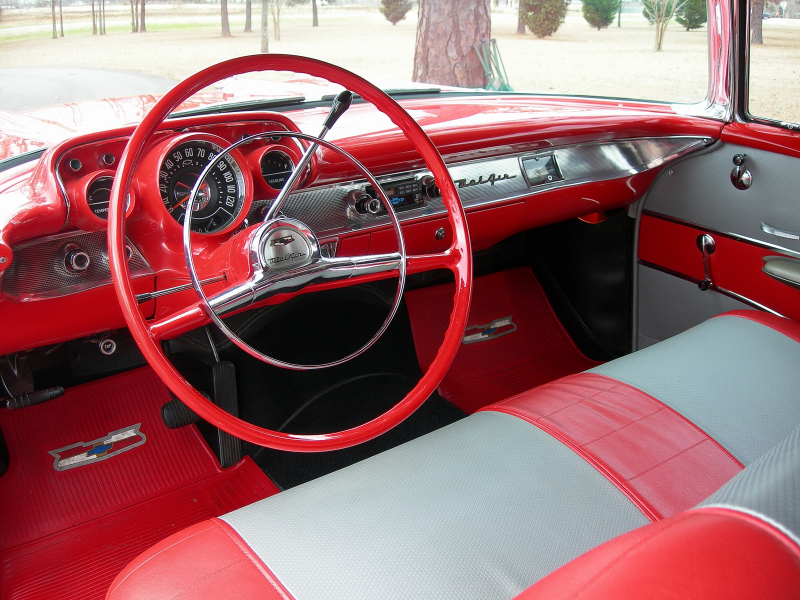 1957 CHEVROLET BEL AIR 2 DOOR CONVERTIBLE - Interior - 88854