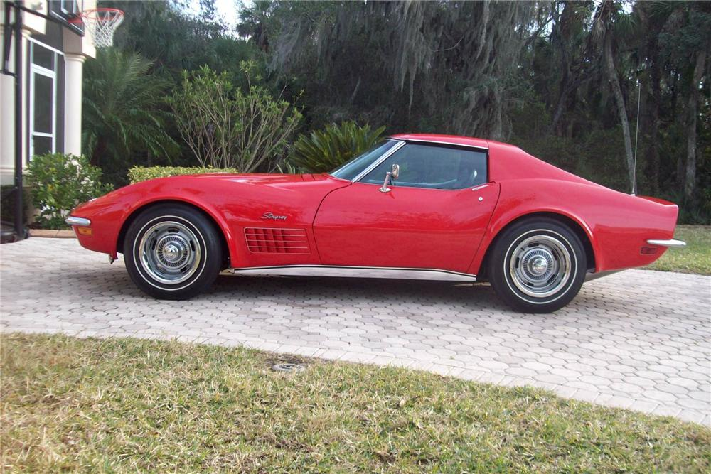 1970 CHEVROLET CORVETTE COUPE - Side Profile - 88856