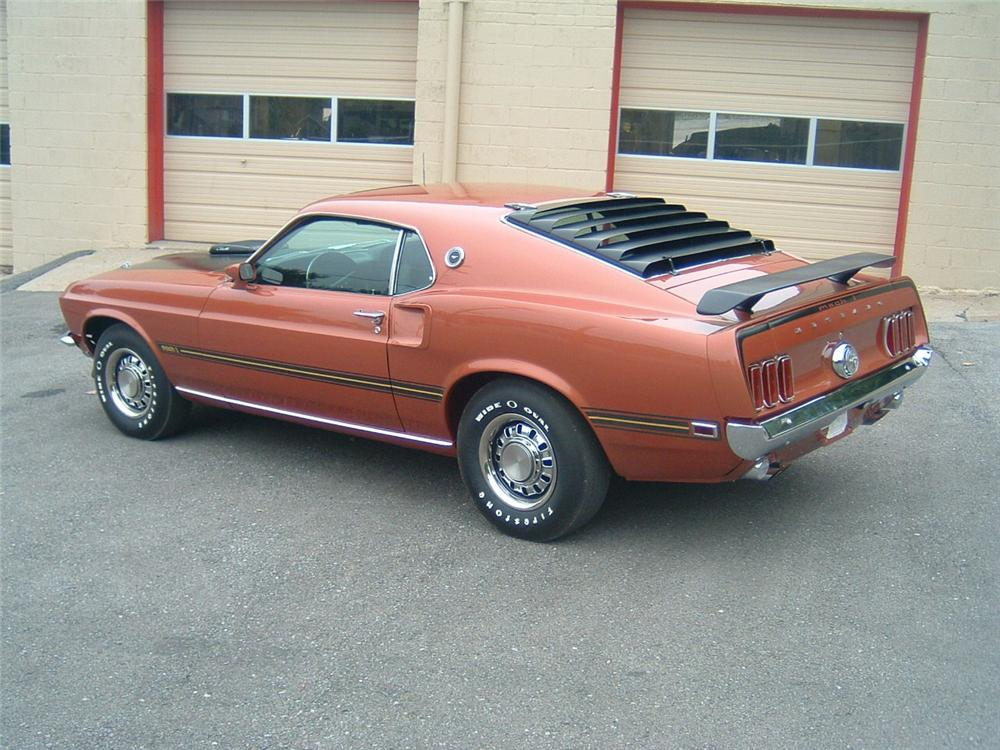 1969 FORD MUSTANG MACH 1 2 DOOR FASTBACK - Rear 3/4 - 88864