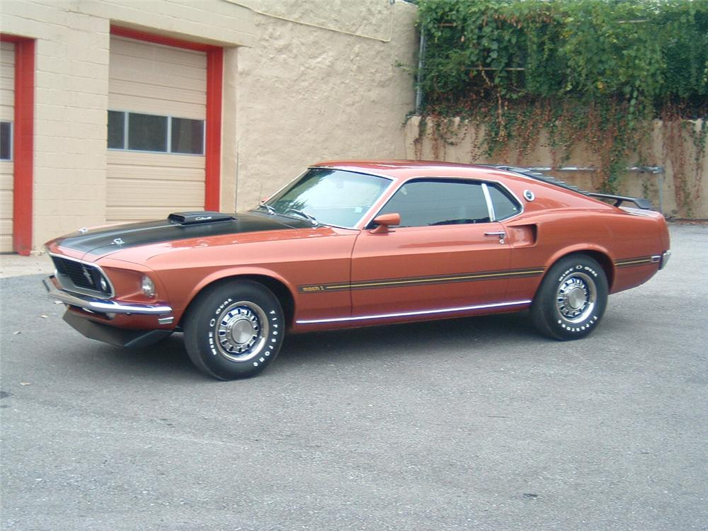 1969 FORD MUSTANG MACH 1 2 DOOR FASTBACK - Side Profile - 88864