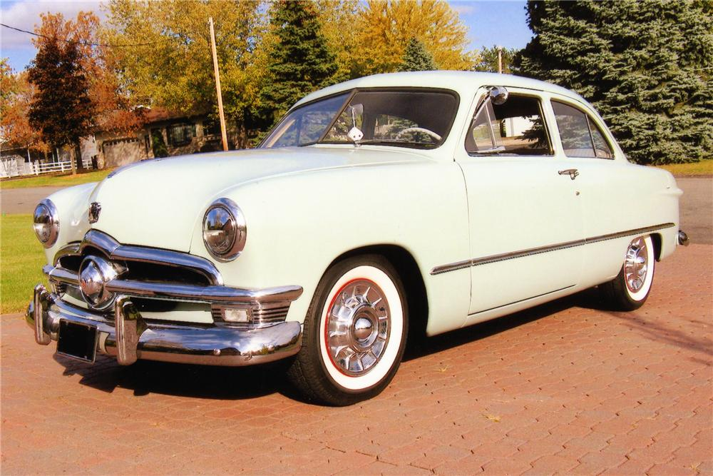 1950 ford deluxe custom 2 door sedan 88871