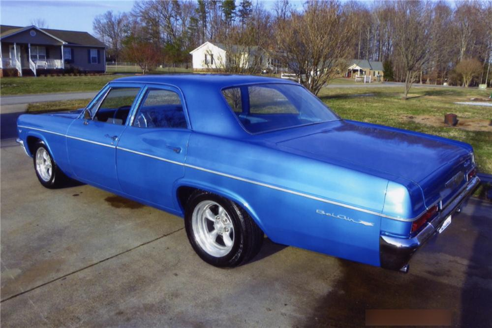 1966 CHEVROLET BEL AIR CUSTOM 4 DOOR SEDAN - Rear 3/4 - 88874