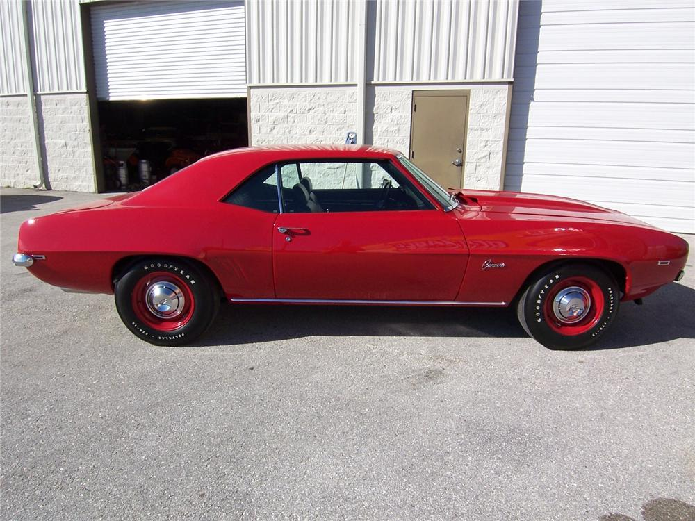 1969 CHEVROLET CAMARO CUSTOM 2 DOOR COUPE - Side Profile - 88885