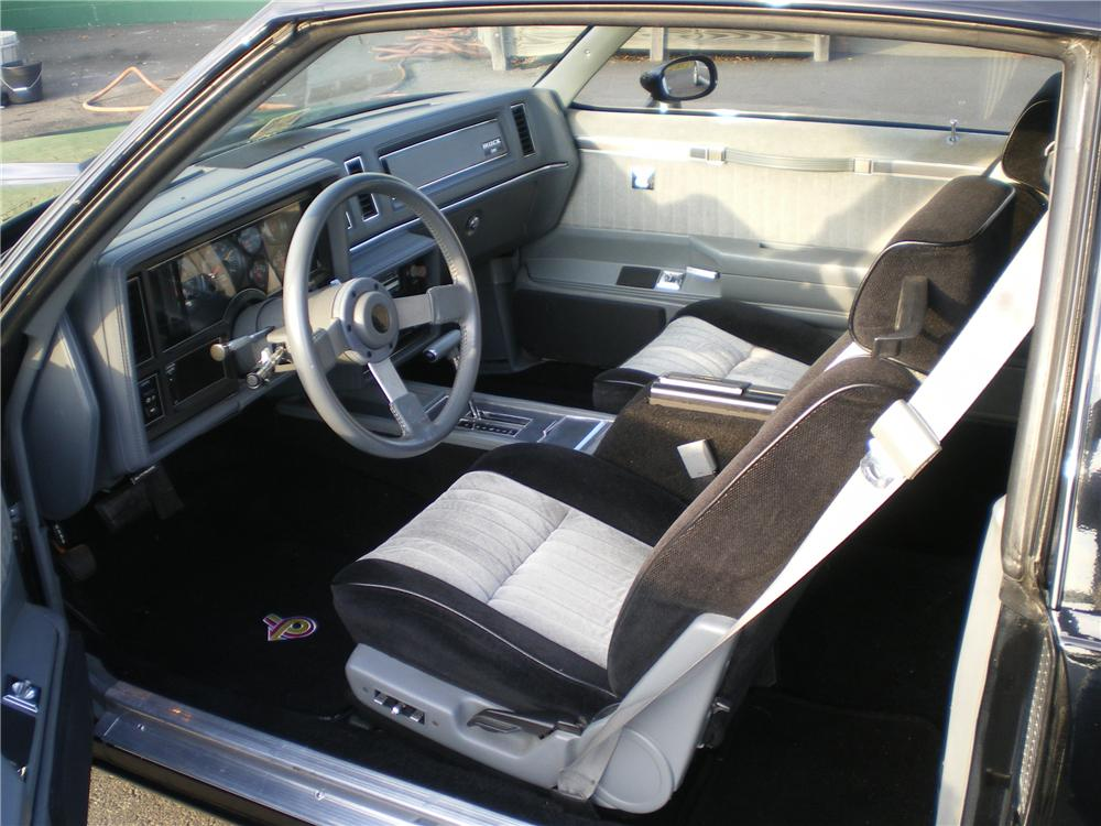 1987 BUICK REGAL GRAND NATIONAL 2 DOOR HARDTOP - Interior - 88906