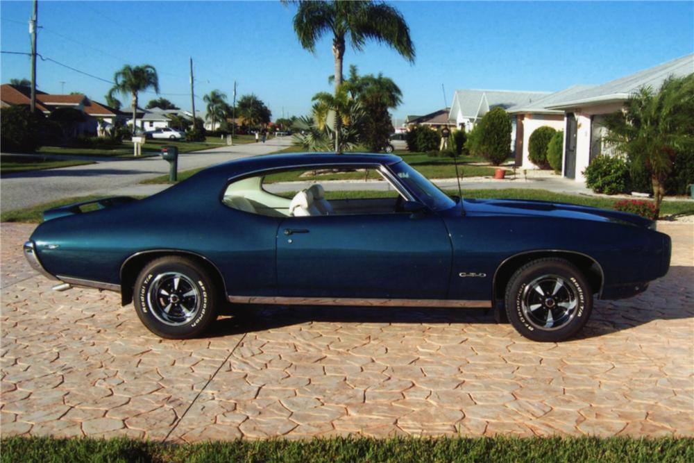 1969 PONTIAC GTO 2 DOOR HARDTOP - Side Profile - 88907