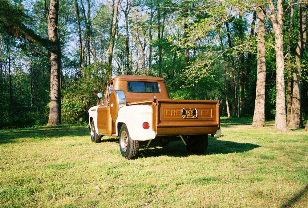1957 CHEVROLET 3100 PICKUP - Rear 3/4 - 88912