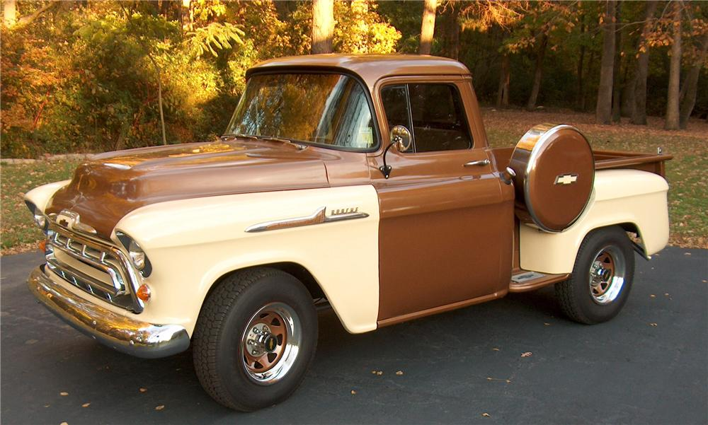 1957 CHEVROLET 3100 PICKUP - Side Profile - 88912
