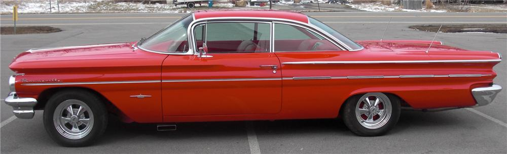 1960 PONTIAC BONNEVILLE CUSTOM 2 DOOR HARDTOP - Side Profile - 88916
