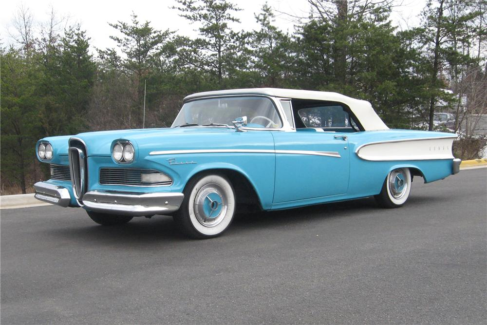 1958 EDSEL PACER CONVERTIBLE - Front 3/4 - 88922
