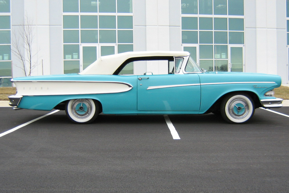 1958 EDSEL PACER CONVERTIBLE - Side Profile - 88922