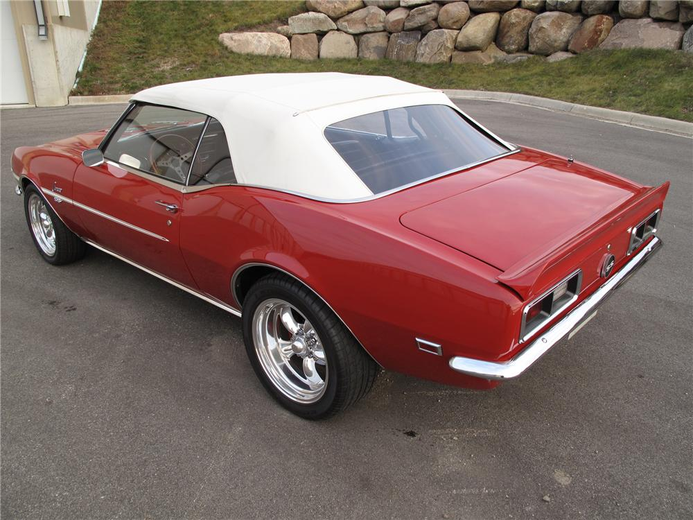 1968 CHEVROLET CAMARO SS CONVERTIBLE PRO-TOURING - Rear 3/4 - 88923