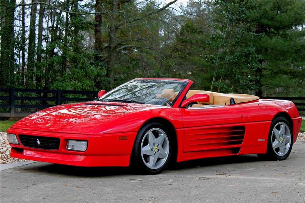 1995 FERRARI 348 SPYDER CONVERTIBLE - Side Profile - 88934