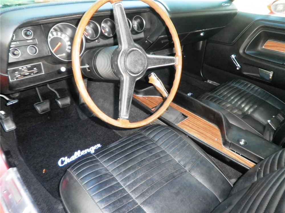 1970 DODGE CHALLENGER T/A 2 DOOR COUPE - Interior - 88942