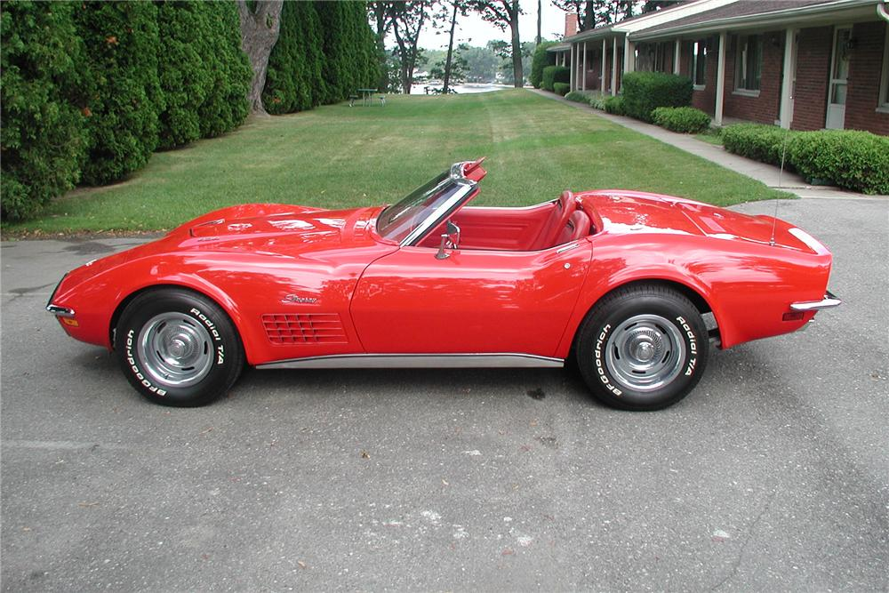 1971 CHEVROLET CORVETTE 2 DOOR CONVERTIBLE - Side Profile - 88945