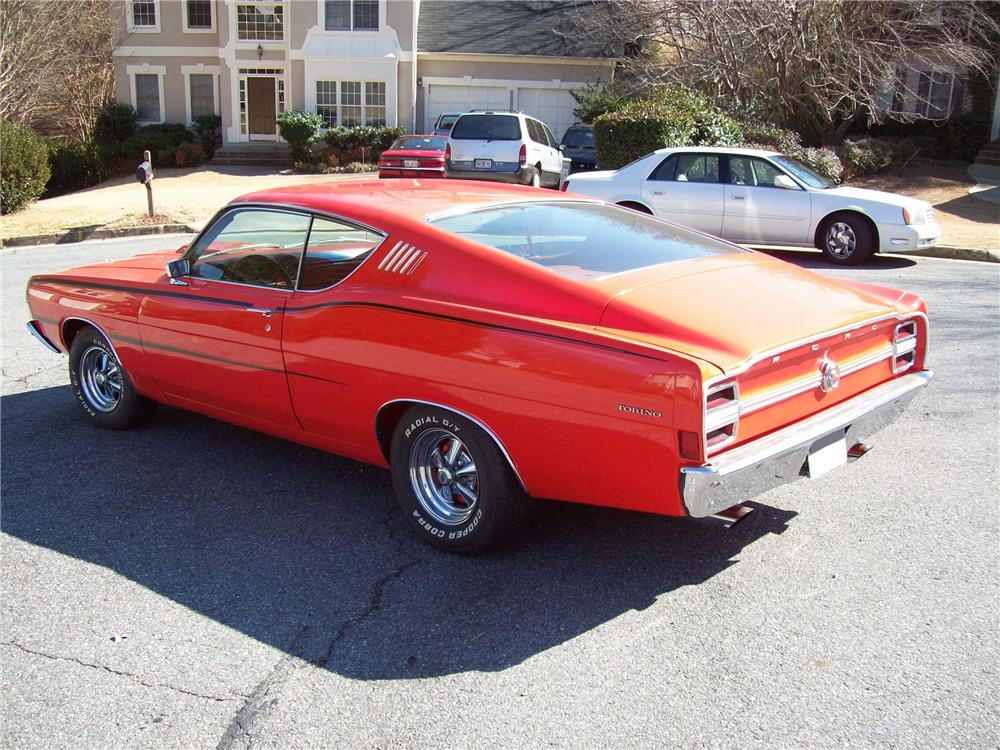 1968 FORD TORINO FASTBACK - Rear 3/4 - 88948
