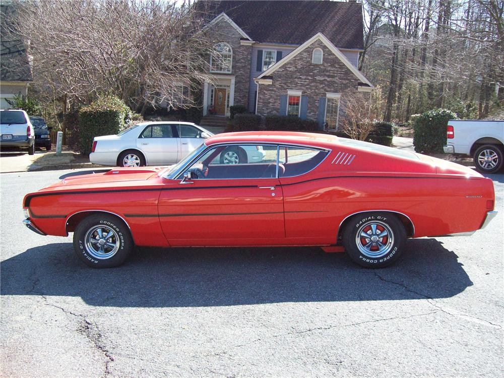 1968 FORD TORINO FASTBACK - Side Profile - 88948