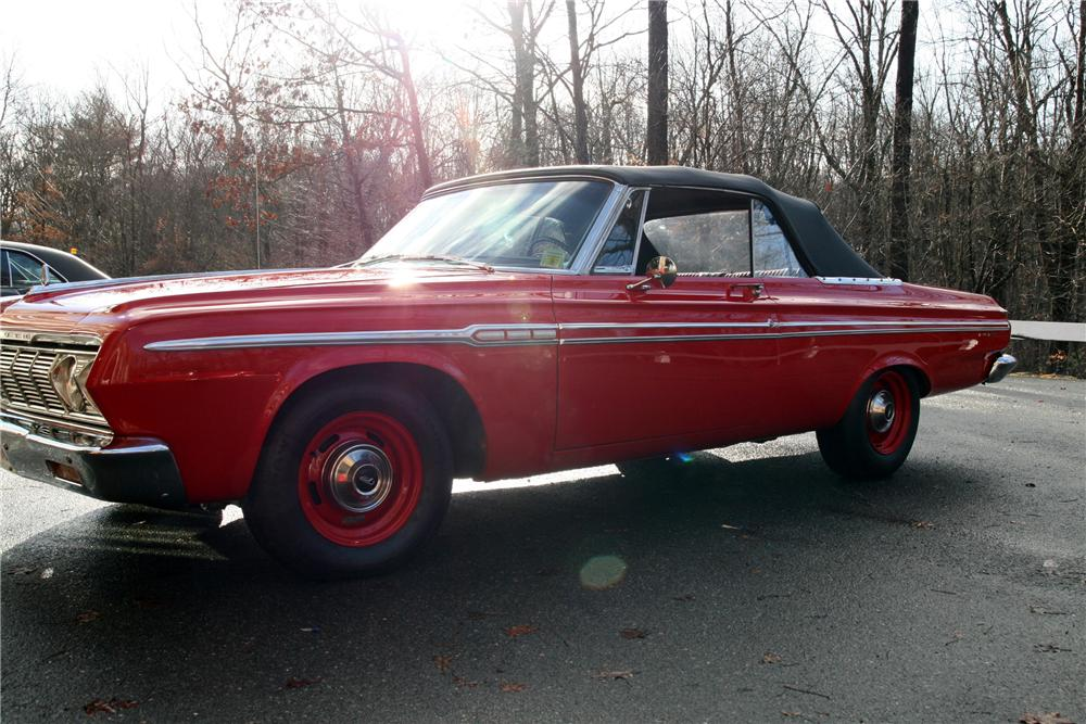 1964 PLYMOUTH FURY CONVERTIBLE - Front 3/4 - 88954
