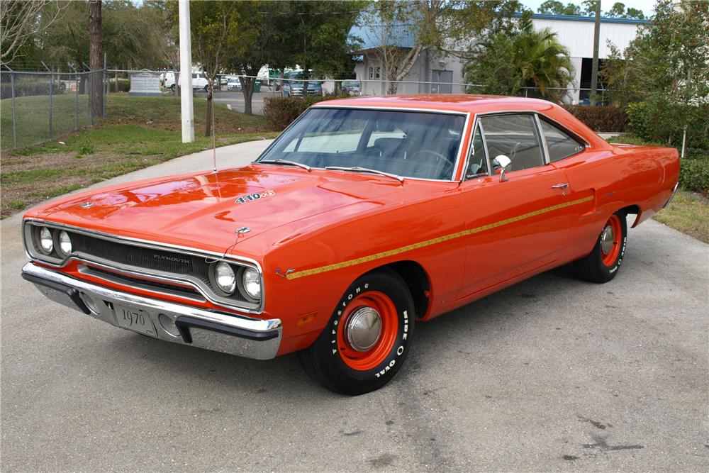 1970 PLYMOUTH ROAD RUNNER COUPE - Front 3/4 - 88966