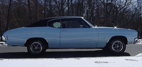 1970 CHEVROLET CHEVELLE MALIBU SS 2 DOOR HARDTOP - Side Profile - 88970
