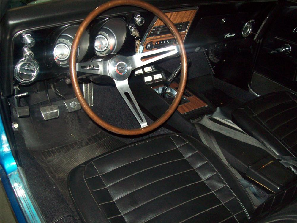 1968 CHEVROLET CAMARO Z/28 2 DOOR COUPE - Interior - 88974