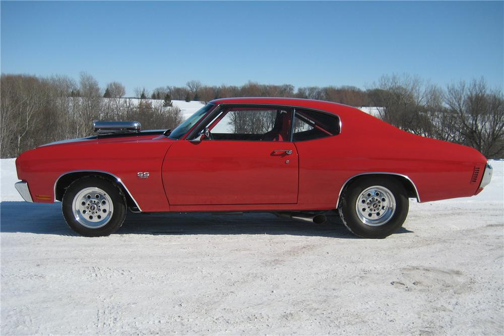 1970 CHEVROLET CHEVELLE CUSTOM 2 DOOR HARDTOP - Side Profile - 88976