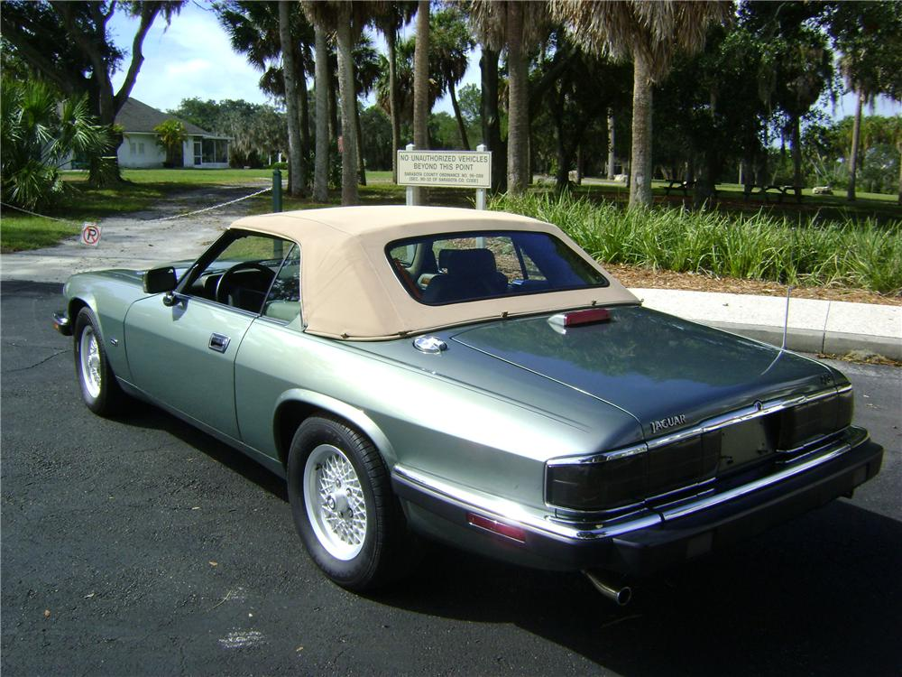 1993 JAGUAR XJS 2 DOOR CONVERTIBLE - Rear 3/4 - 89005