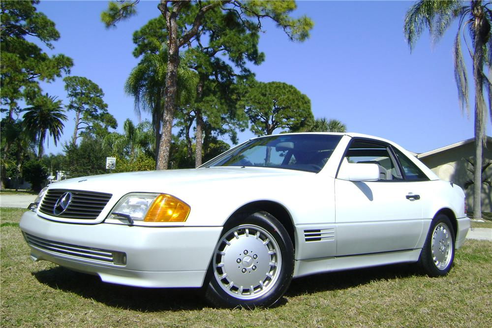 1992 MERCEDES-BENZ 500SL 2 DOOR CONVERTIBLE - Front 3/4 - 89007