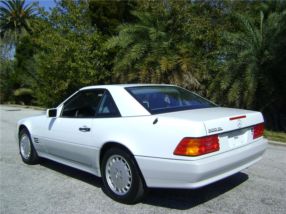 1992 MERCEDES-BENZ 500SL 2 DOOR CONVERTIBLE - Rear 3/4 - 89007