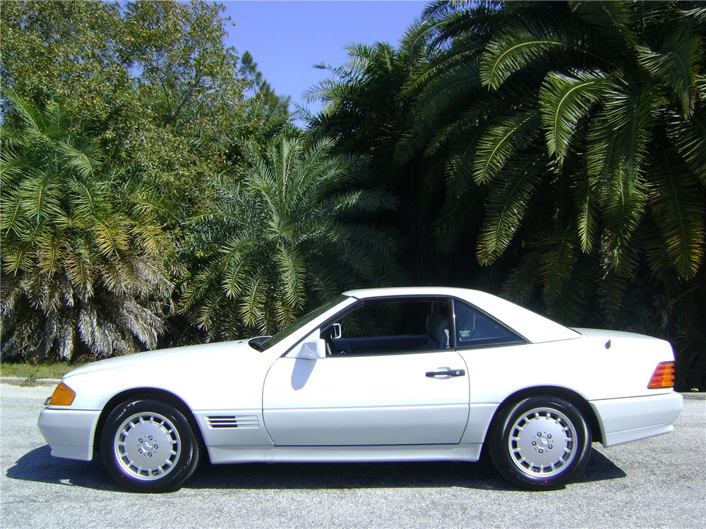 1992 MERCEDES-BENZ 500SL 2 DOOR CONVERTIBLE - Side Profile - 89007
