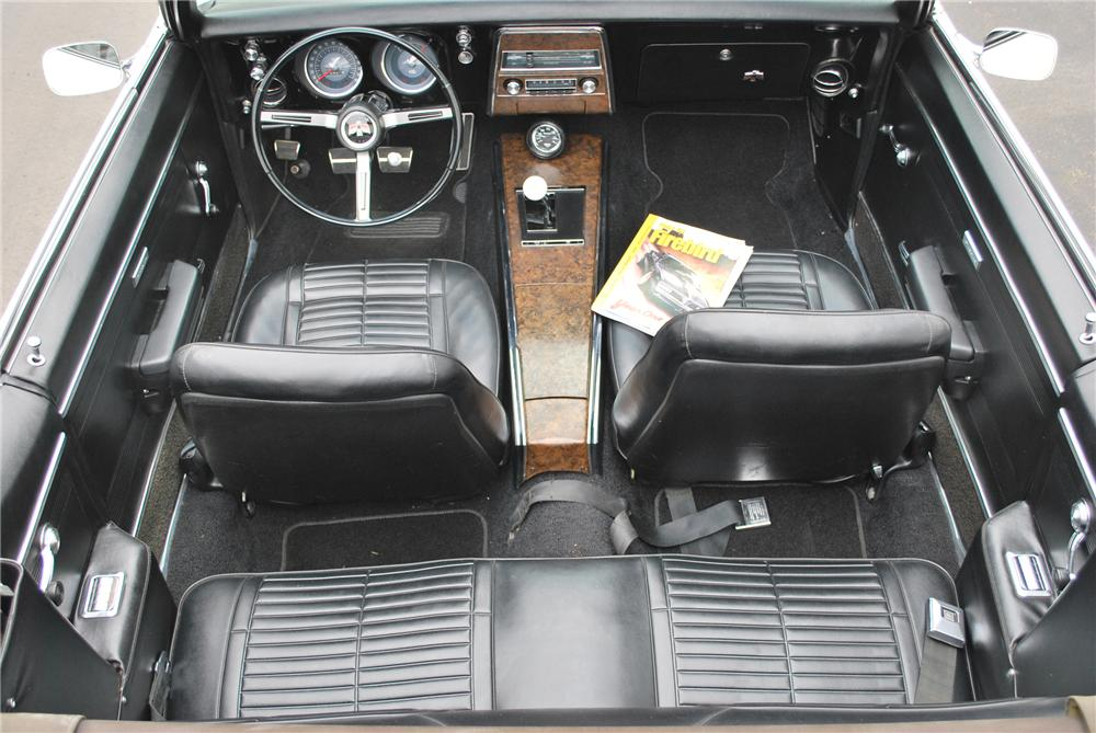 1968 PONTIAC FIREBIRD 2 DOOR CONVERTIBLE - Interior - 89009