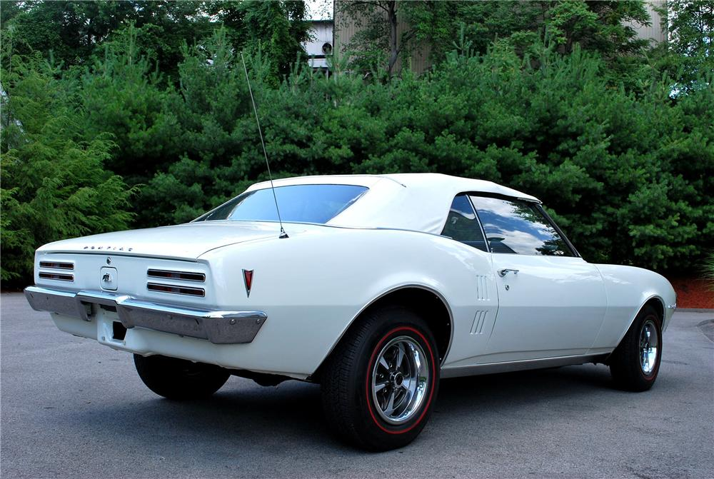 1968 PONTIAC FIREBIRD 2 DOOR CONVERTIBLE - Rear 3/4 - 89009
