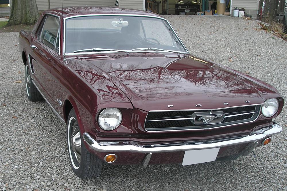 1965 FORD MUSTANG 2 DOOR COUPE - Front 3/4 - 89022