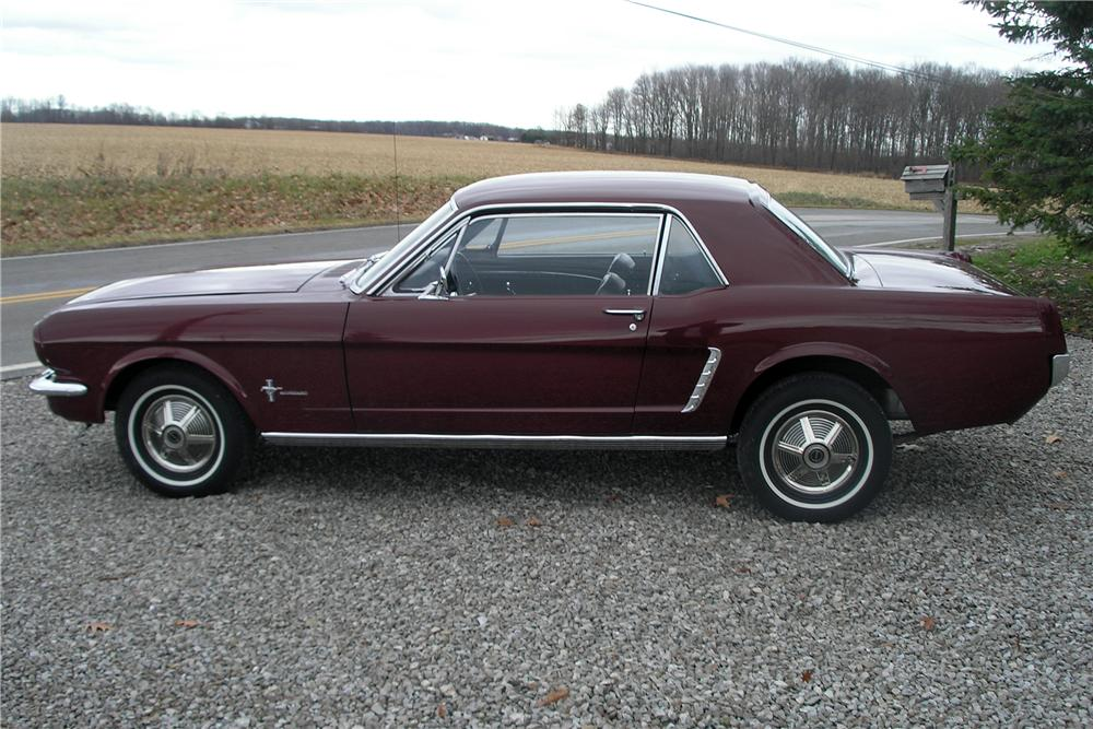 1965 FORD MUSTANG 2 DOOR COUPE - Side Profile - 89022