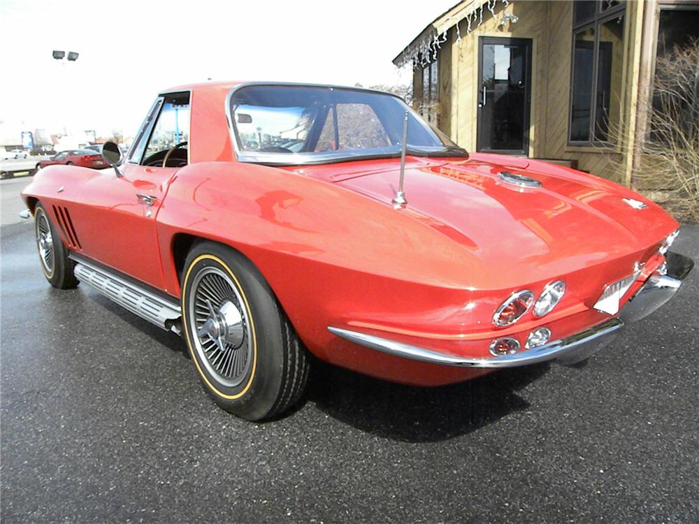 1966 CHEVROLET CORVETTE 2 DOOR CONVERTIBLE - Rear 3/4 - 89027