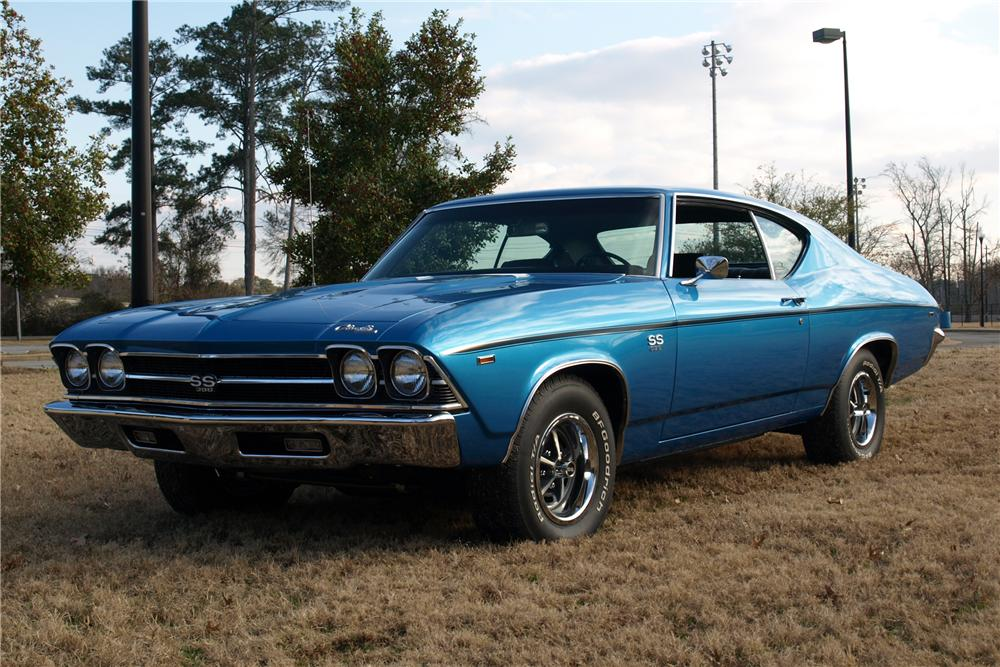 1969 CHEVROLET CHEVELLE SS 2 DOOR COUPE - Front 3/4 - 89030