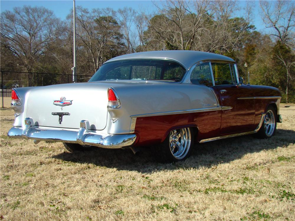 1955 CHEVROLET BEL AIR CUSTOM 2 DOOR HARDTOP - Rear 3/4 - 89031