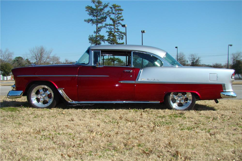 1955 CHEVROLET BEL AIR CUSTOM 2 DOOR HARDTOP - Side Profile - 89031