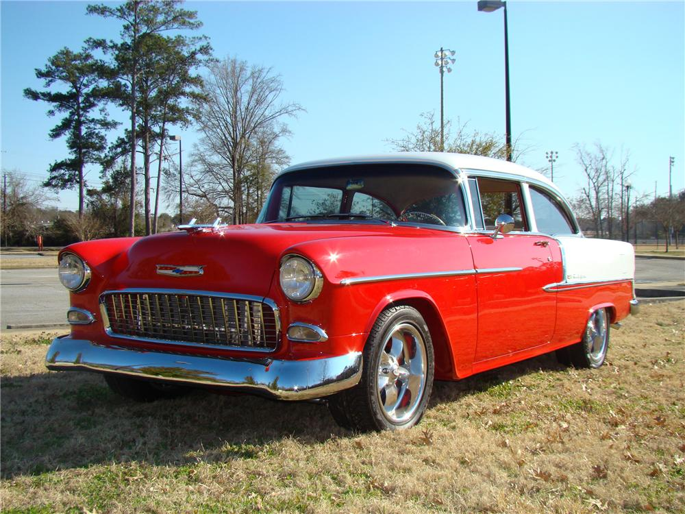 1955 CHEVROLET BEL AIR CUSTOM 2 DOOR SEDAN - Front 3/4 - 89032