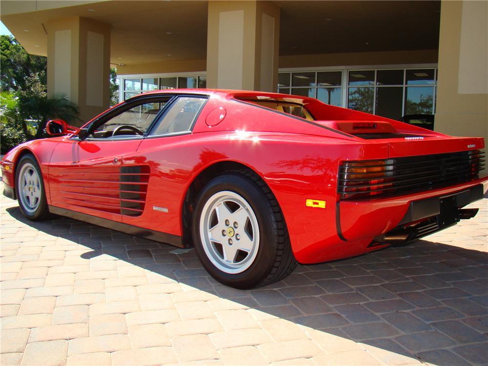 1988 FERRARI TESTAROSSA 2 DOOR COUPE - Rear 3/4 - 89040