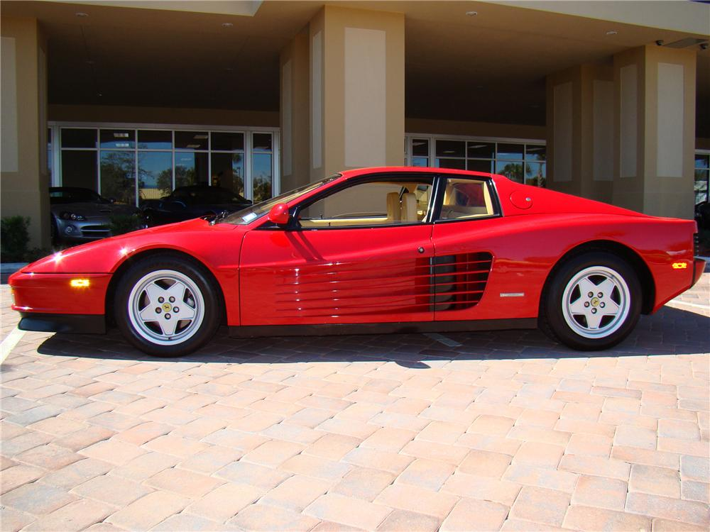 1988 FERRARI TESTAROSSA 2 DOOR COUPE - Side Profile - 89040