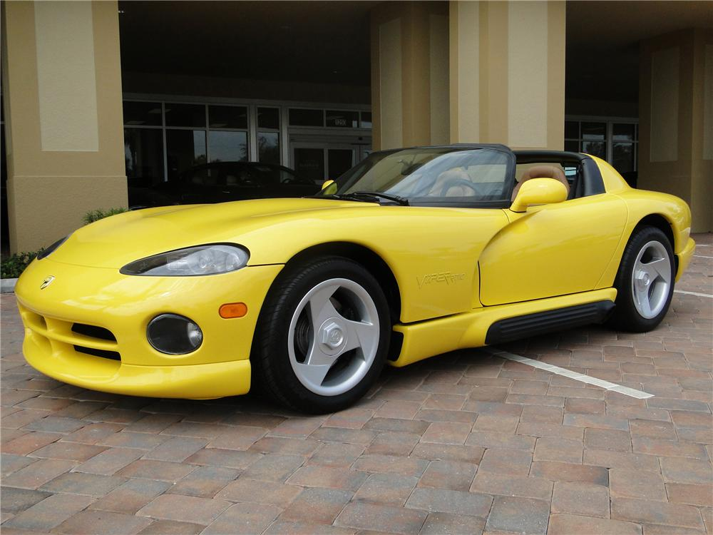 1995 DODGE VIPER RT/10 CONVERTIBLE - Front 3/4 - 89043