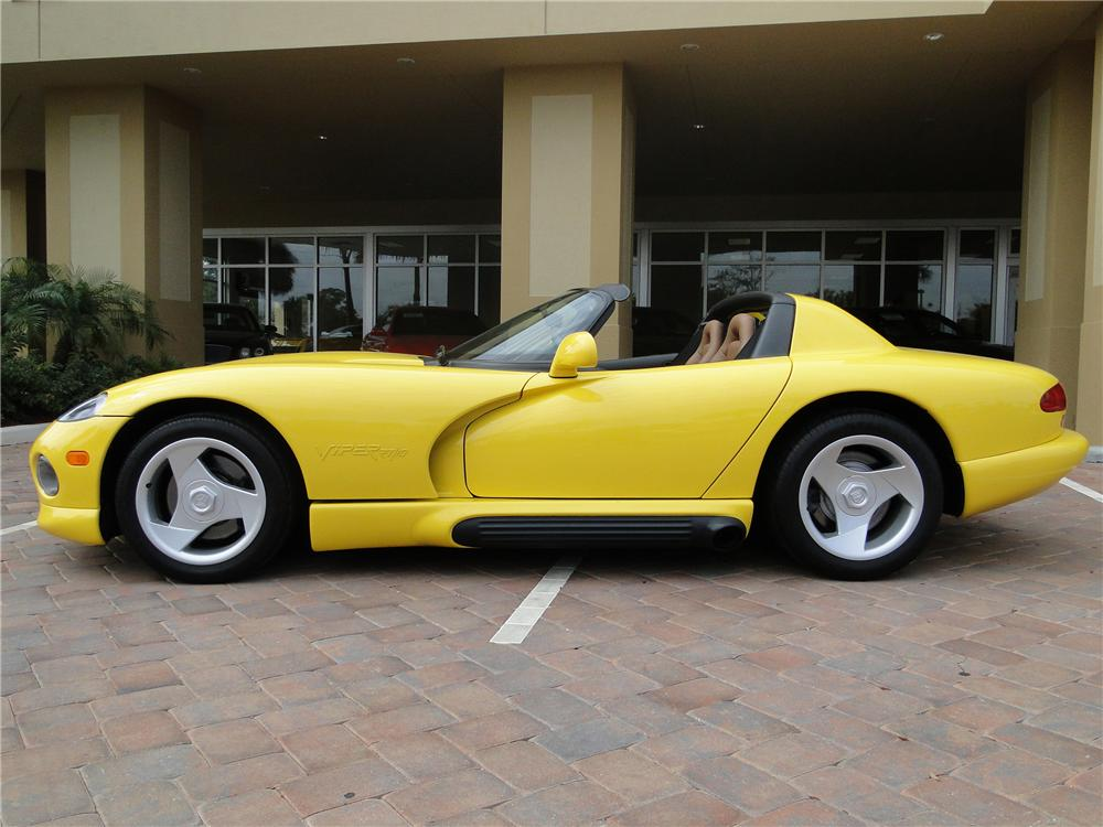 1995 DODGE VIPER RT/10 CONVERTIBLE - Side Profile - 89043