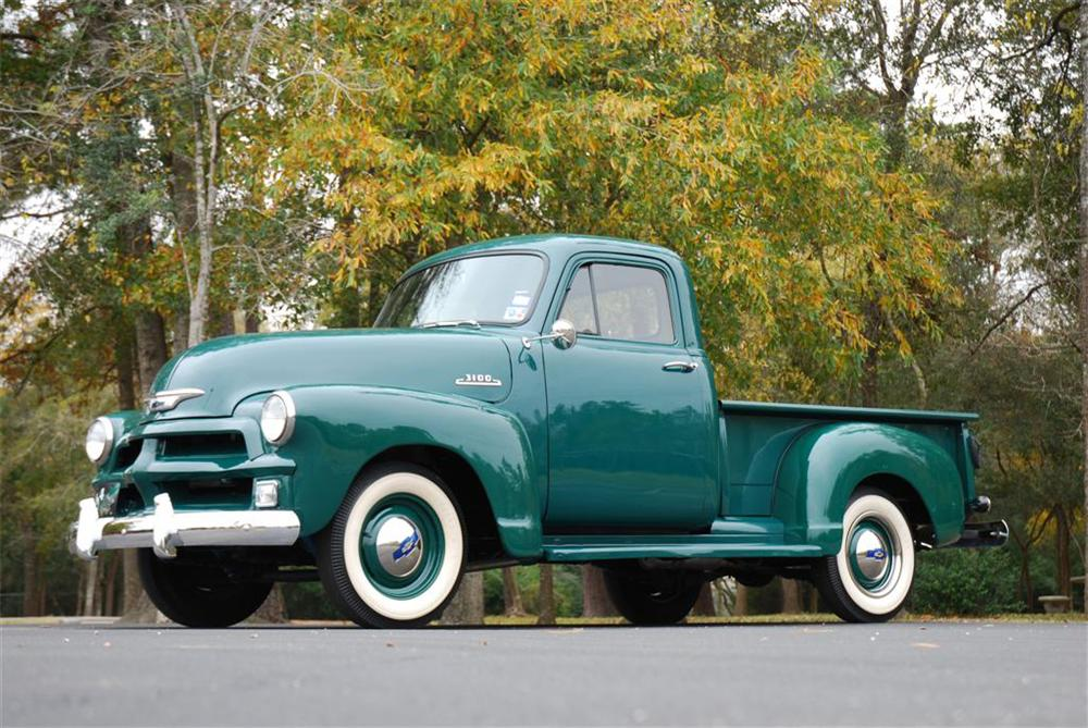 1954 CHEVROLET 3 WINDOW PICKUP - Front 3/4 - 89050