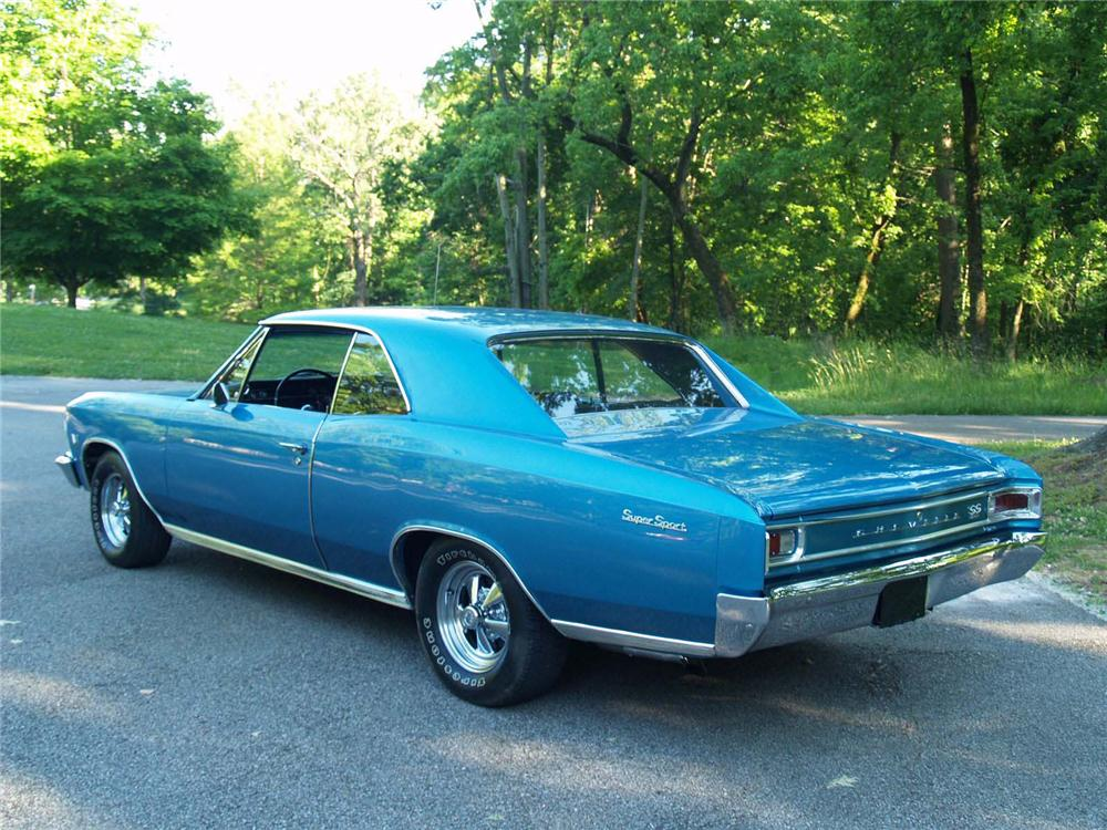1966 CHEVROLET CHEVELLE SS 2 DOOR COUPE - Rear 3/4 - 89053
