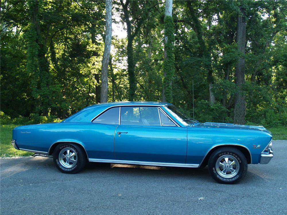 1966 CHEVROLET CHEVELLE SS 2 DOOR COUPE - Side Profile - 89053