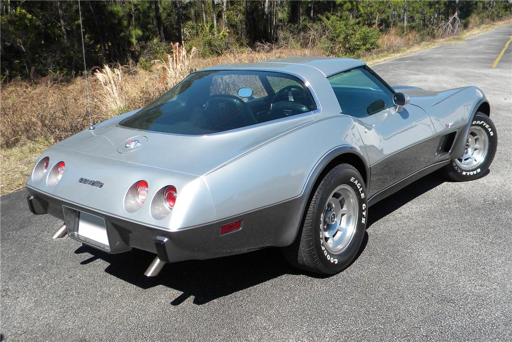 1978 CHEVROLET CORVETTE 2 DOOR COUPE - Rear 3/4 - 89063